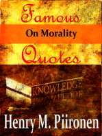 Famous Quotes on Morality