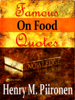 Famous Quotes on Food