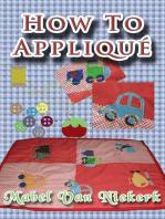How to appliqué