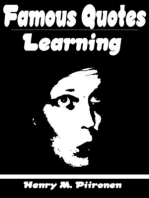 Famous Quotes on Learning