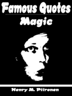 Famous Quotes on Magic