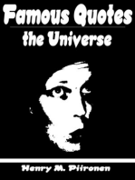 Famous Quotes on the Universe