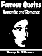 Famous Quotes on the Romantic and Romance