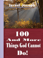 100 And More Things God Cannot Do!