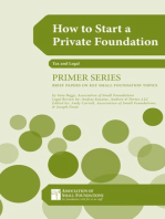 How to Start a Private Foundation