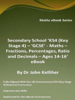 Secondary School 'KS4 (Key Stage 4) – 'GCSE' - Maths – Fractions, Percentages, Ratio and Decimals – Ages 14-16' eBook