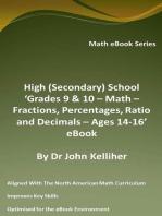 High (Secondary) School 'Grades 9 & 10 - Math – Fractions, Percentages, Ratio and Decimals – Ages 14-16' eBook