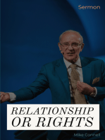 Relationship or Rights (sermon)