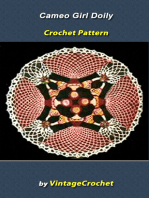 Cameo Girl Doily Vintage Crochet Pattern eBook