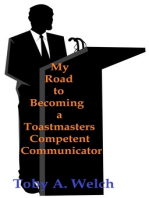 My Road to Becoming a Toastmasters Competent Communicator