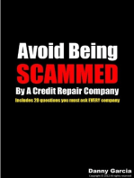 Avoid Being Scammed By A Credit Repair Company