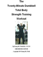 The Twenty-Minute Dumbbell Total Body Strength Training Workout