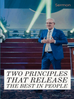 Two Principles that Release the Best in People (sermon)