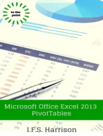 Microsoft Office Excel 2013 PivotTables