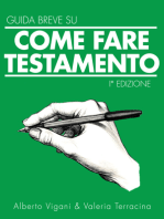 Guida Breve Come scrivere il Testamento