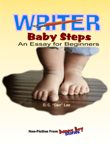 Danny Boy Stories: Writer Baby Steps, An Essay for Beginners