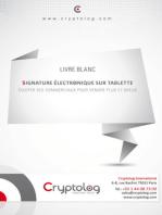 Signature électronique sur tablette