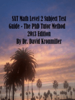 SAT Math Level 2 Subject Test Guide