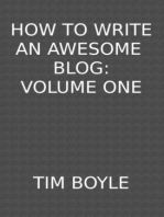 How to Write an Awesome Blog