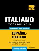 Vocabulario Español-Italiano: 3000 Palabras Más Usadas