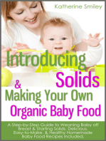 Introducing Solids & Making Your Own Organic Baby Food