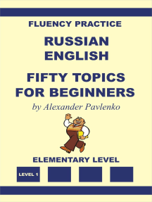 Russian-English Fifty Topics for Beginners