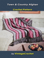 Town & Country Afghan Vintage Cochet Pattern