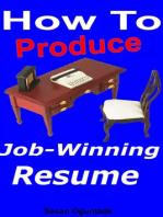 How to Produce Job-Winning Resume