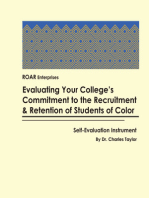 Evaluating Your College's Commitment to the Recruitment & Retention of Students of color