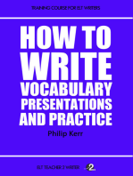 How To Write Vocabulary Presentations And Practice