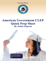 American Government CLEP Quick Prep Sheet