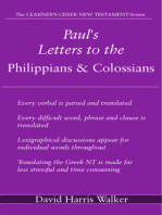 Paul's Letters to the Philippians & Colossians
