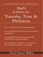 Paul's Letters to Timothy, Titus & Philemon