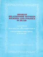 Shariah Relationship between Religion and Politics in Islam