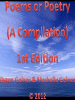 Poems or Poetry (A Compilation) 1st Edition