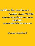 Petition for Certiorari – Patent Case 99-396 - Federal Rule of Civil Procedure 12(h)(3) Patent Assignment Statute 35 USC 261