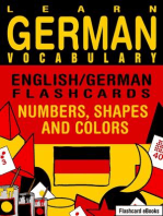 Learn German Vocabulary: English/German Flashcards - Numbers, Shapes and Colors