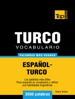 Vocabulario Español-Turco: 3000 Palabras Más Usadas