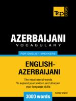 Azerbaijani Vocabulary for English Speakers: 3000 Words