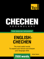 Chechen Vocabulary for English Speakers: 7000 Words