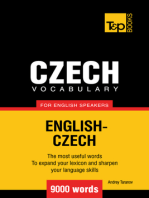 Czech vocabulary for English speakers