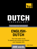 Dutch vocabulary for English speakers: 5000 words