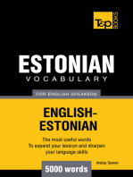 Estonian vocabulary for English speakers
