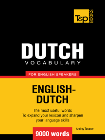 Dutch vocabulary for English speakers: 9000 words