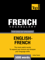French Vocabulary for English Speakers: 5000 Words