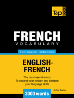 French Vocabulary for English Speakers: 3000 Words