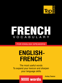 French Vocabulary for English Speakers: 9000 Words