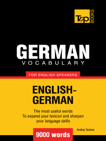 German Vocabulary for English Speakers: 9000 Words