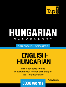 Hungarian Vocabulary for English Speakers: 3000 Words