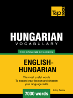 Hungarian Vocabulary for English Speakers: 7000 Words